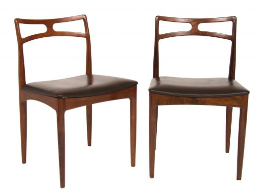 chairs Pair of Midcentury Dining Chairs by Johannes Andersen for Christian Linneberg (item #2231)