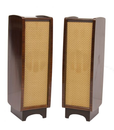 cabinets Pair of Midcentury Model LS35 Loudspeakers by Celestion for His Masters Voice, British c.1960 (item #2239)