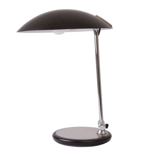 lighting Midcentury Black & Chrome Canopy Lamp (item #2265)
