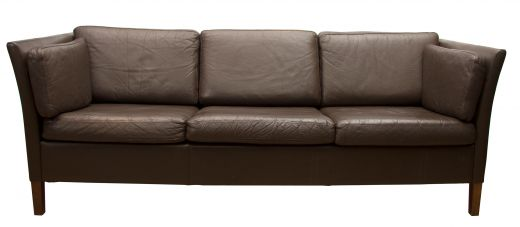 sofas Midcentury brown leather sofa (item #2275)