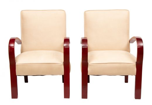 art deco armchairs A pair of art deco armchairs (#2332)