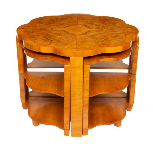 art deco tables Art Deco Quartet Nest of Tables by Harry & Lou Epstein (item #2340)