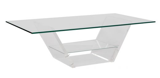 tables Midcentury Acrylic & Glass Coffee Table designed by David Lange (item #2376)