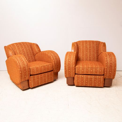 art deco armchairs A pair of Art deco armchairs (item #2397)