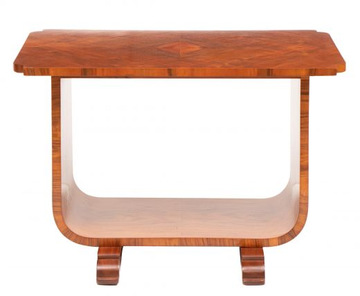 art deco tables Art Deco Figured Walnut U Base Table by Frederick Lawrence (item #2404)