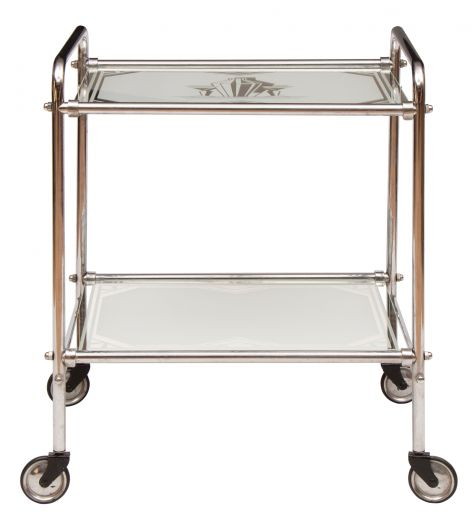 trolley Art deco mirror glass cocktail trolley (item #2405)