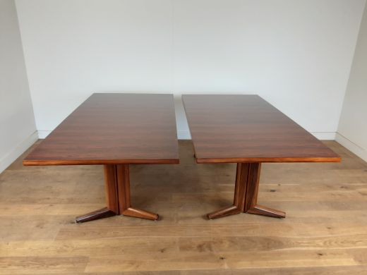 dinning tables A pair of mid century rosewood dining tables (item #2419)