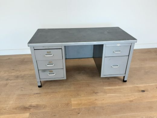 art deco desks Industrial metal desk by Art Metal of London (item #2427)