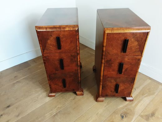 art deco bedside cabinets A pair of Art Deco bedside cabinets (item #2433)