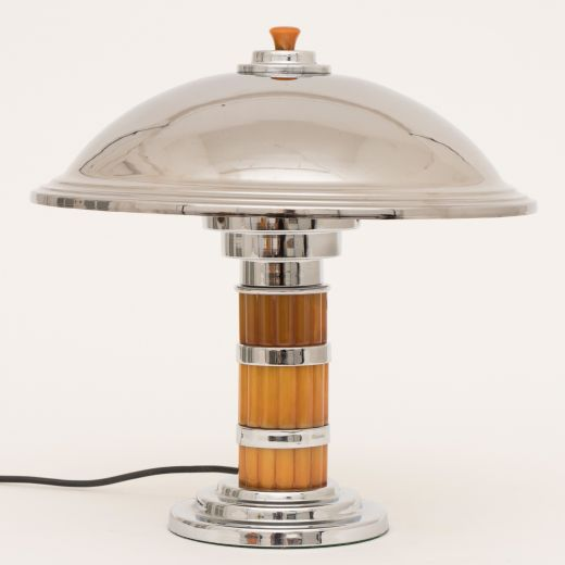 art deco table lamps Art deco canopy table lamp (item #2460)