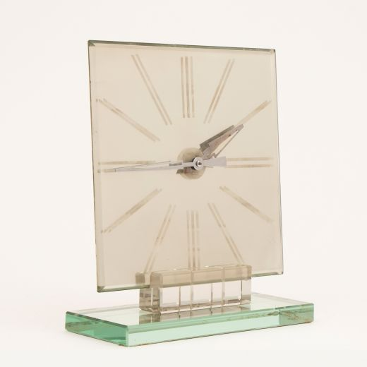 art deco clocks Italian Art Deco Mirror Clock c.1930 (item #2481)