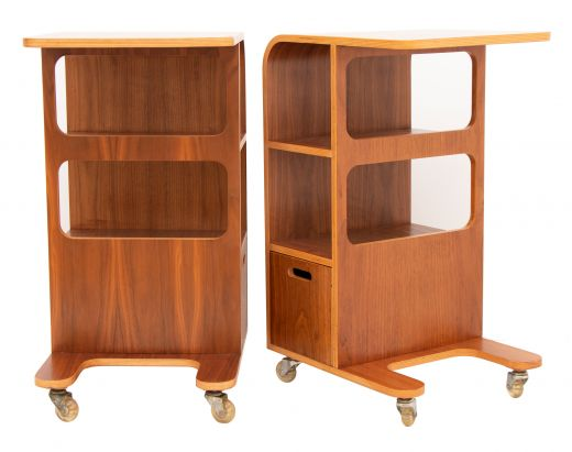 bedside tables  Pair of Midcentury Bentwood Side Tables c 1970 (item #2483)