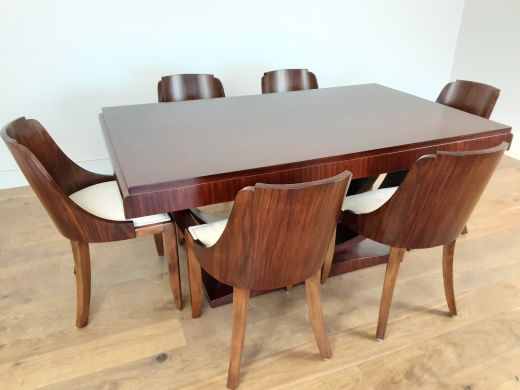 art deco dining table and chairs Art deco french dining table and chairs  (item #2489)