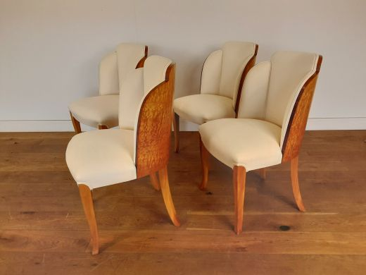 Chairs Art deco cloud back chairs in birdseye maple by epstein british c 1930 (item #2491)