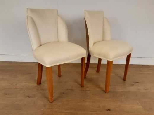 Chairs A pair of art deco cloud back chairs in walnut by epstein c 1930 (item #2492)
