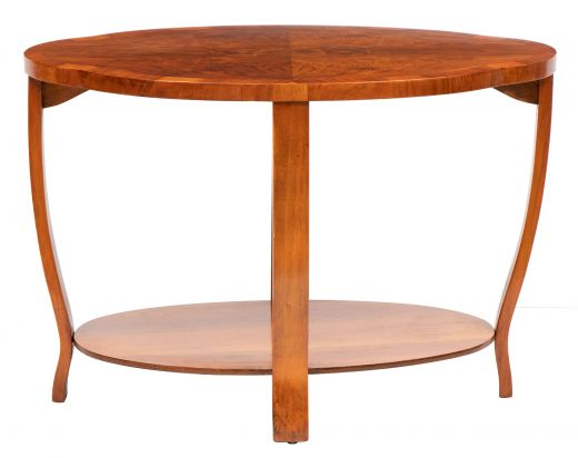 art deco tables British Art Deco Figured Walnut Occasional Table c.1930 (item #2497)