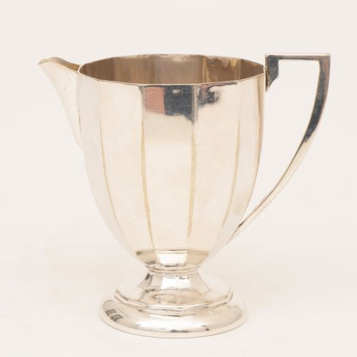 Silver British Art Deco Fluted Silver Plate Cream Jug c.1930 (item #2502)