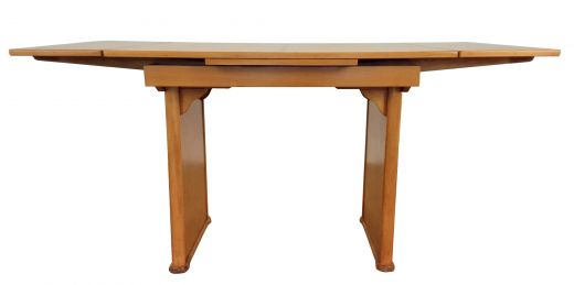 art deco dining tables  British Art deco extendable dining table in birdseye maple with walnut trims c1930 (item #2505)