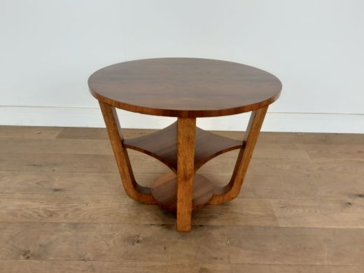 art deco tables British art deco side table in a burr walnut (#2524)