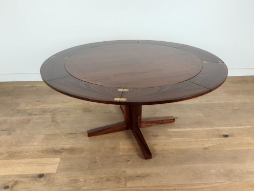 dinning tables mid century dyrlund rosewood lotus flip flap extendable dining table (#2528)
