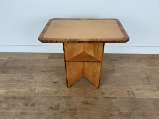 art deco tables Art deco table in karelian birch by hille (item #2565)