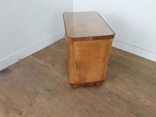 art deco tables Art deco side table in karelian birch by hille (item #2566)