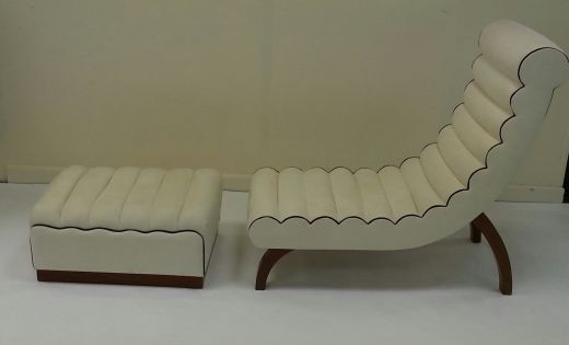 Art deco chaise longue by betty joel chairs gazelles for Chaise longue deco