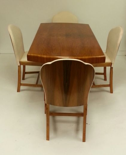 SOLD ART DECO DINING TABLES SMALL TABLE AND 4 CHAIRS Item 1285