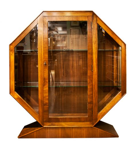 Art Deco Octagonal Display Cabinet | Art Deco Display Cabinets ...
