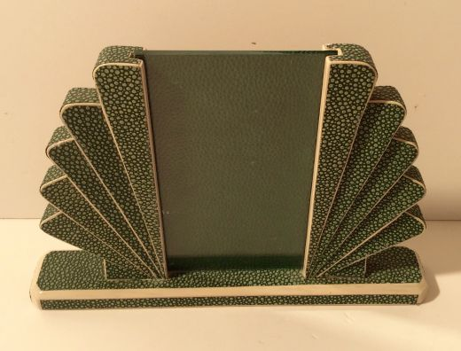 Art Deco Shagreen Photo Frame Art Deco Photo Picture