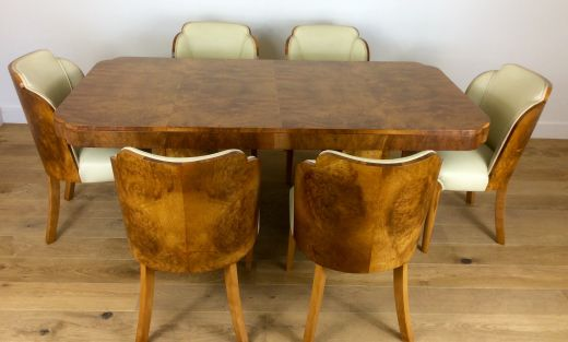 Art Deco Dining Table And Chairs Cloud Design Item