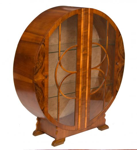 Art Deco Circular Display Cabinet | Art Deco Display Cabinets ...