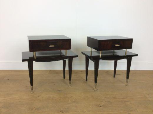 mid century bedside cabinets | bedside tables | gazelles of lyndhurst