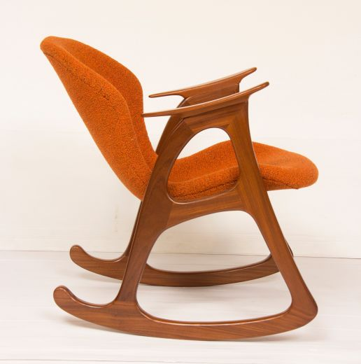 Midcentury Rocking Chair By Aage Christiansen For